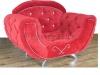 Дизайнерское кресло в каретной стяжке Элеганс